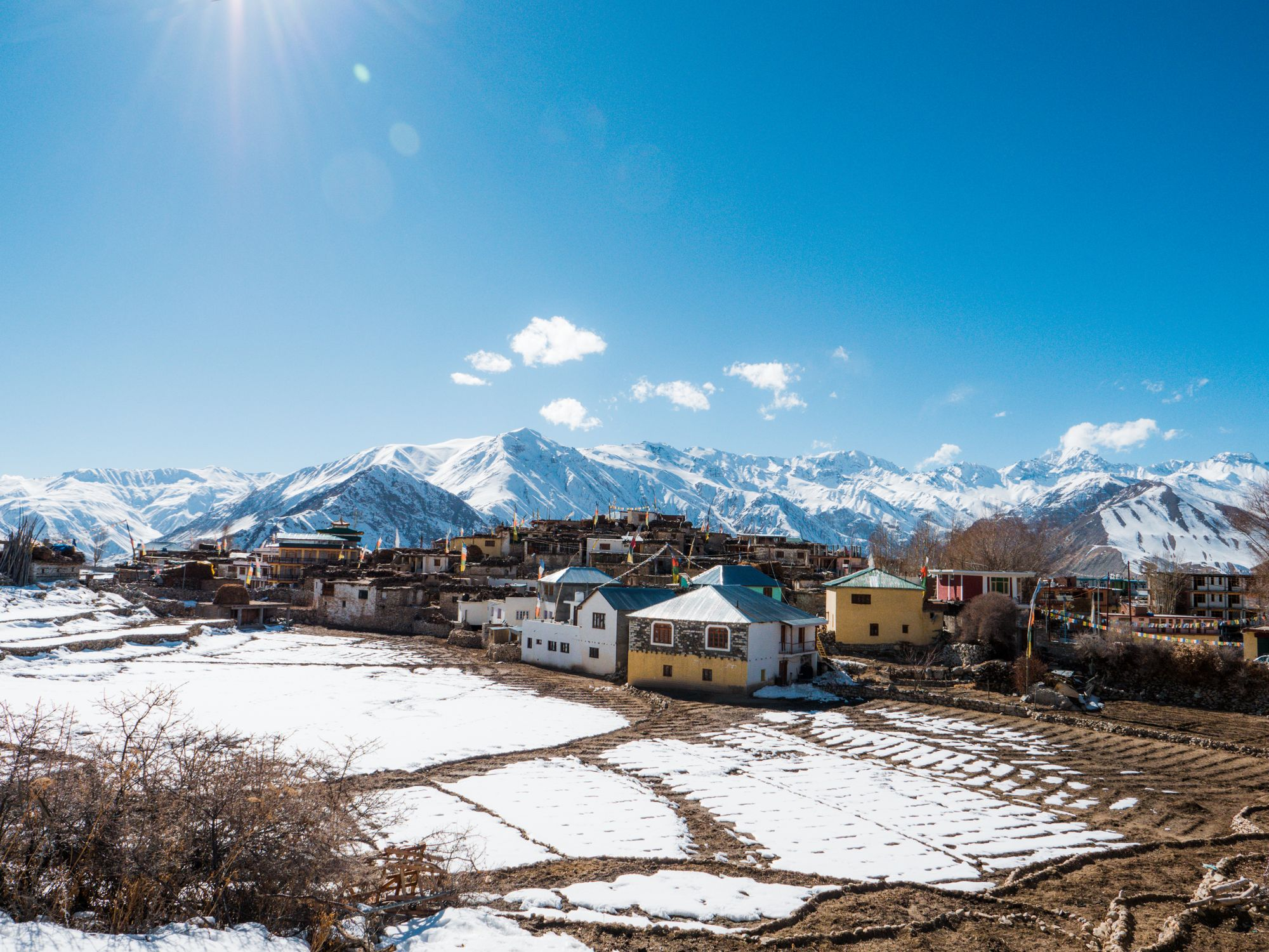 Out-worldly view of snow covered Nako