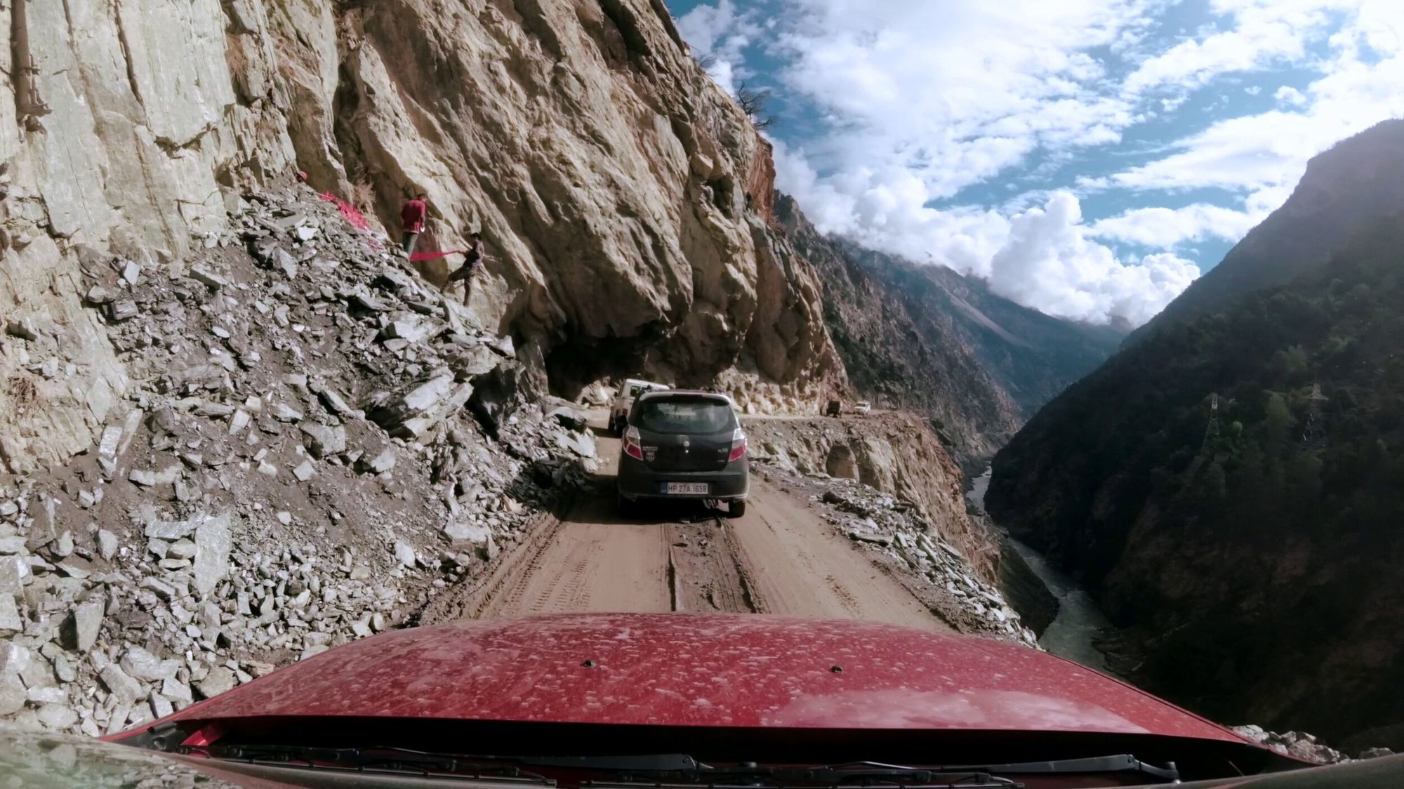 The thrill of driving on narrow roads