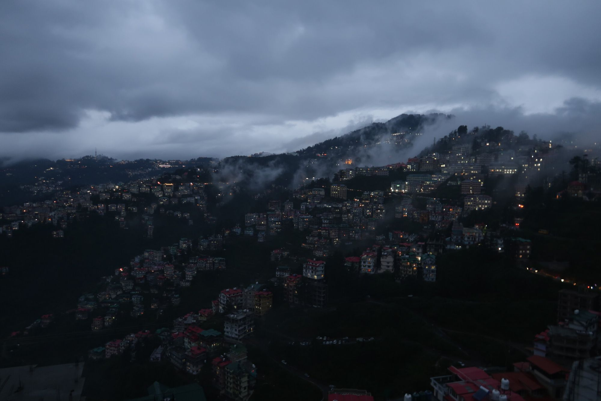 View from our homestay in Shimla