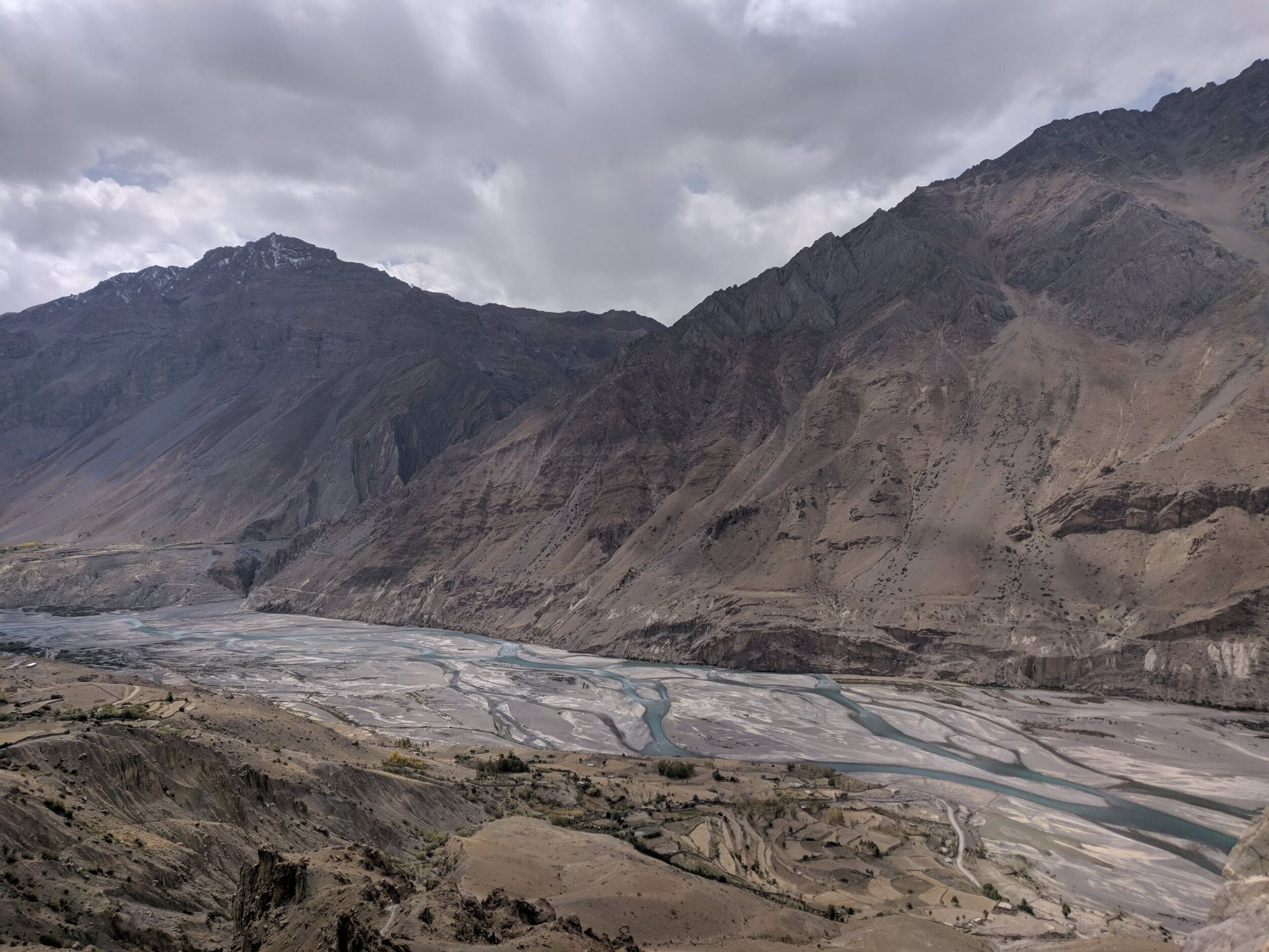 Epic view of Spiti Valley while climbing to Dhankar Monastery
